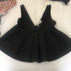 Urban Outfitters Black Peplum Top